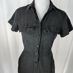 J Crew Size 2 Drapey Oxford Dress Black